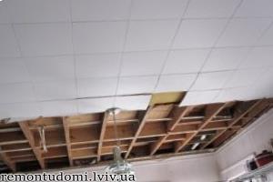 Демонтаж стелі у Львові