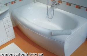 Встановлення акрилової ванни    Ціни у Львові