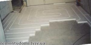 Монтаж теплої водяної підлоги у Львові