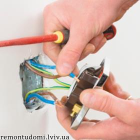 Встановлення розеток і вимикачів :: Найнижчі ціни у Львові