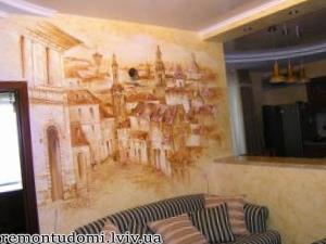 Низькі ціни на художній розпис стін у Львові