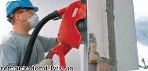 штроблення стін під труби у Львові